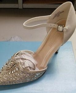6cc0d2a4512 Lulu s Shoes - Lulu s Adeline white rhinestone ankle strap heels